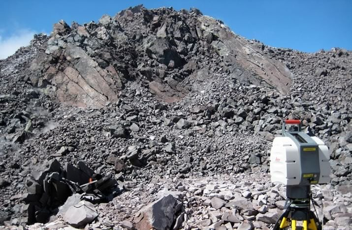 Instrumentation for measuring surface roughness of solid extrusions at Mt. St. Helens
